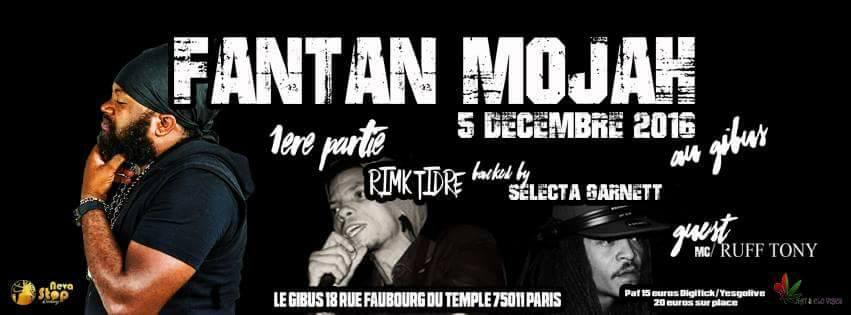 05.12.2016 – Fantan Mojah x Rimka Tidré x Jah Sidy Boy #Reggae