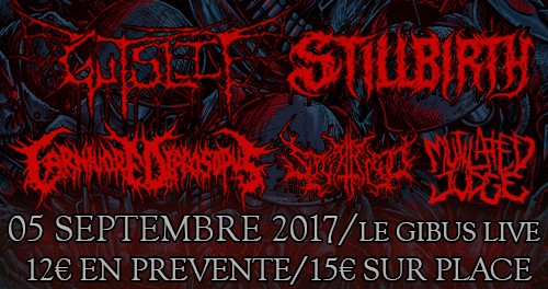 05.09.2017 – Gutslit / Carnivore Diprosopus / Stillbirth / Splattered / Guest #METAL