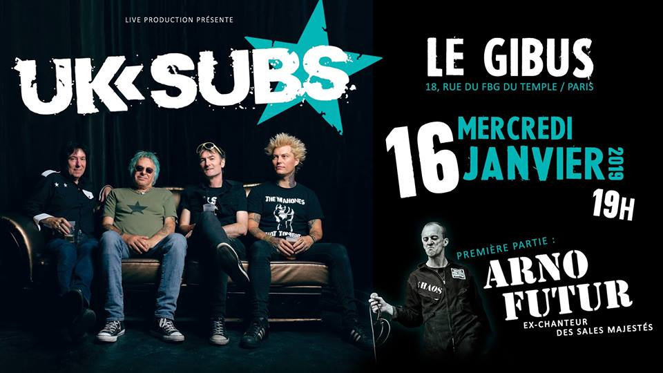16.01.2019 – UK SUBS + ARNO FUTUR # PUNK ROCK