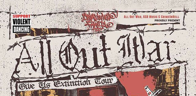 07.07.2017 – All Out War / No Heavens / Nuisible / Bearded Bastards/ Mindslow #HxC