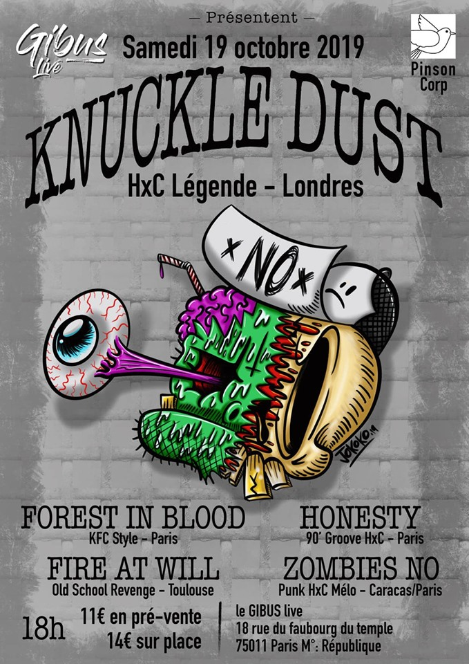 19.10.2019 – Knuckledust + Forest in blood + Honesty + Fire at will + Zombies no