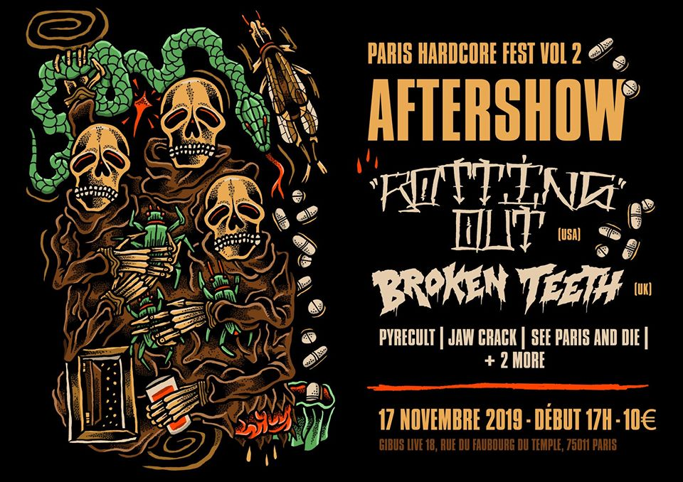 17.11.2019 –  Rotting out • Broken Teeth • PYRECULT • JACK MOVE • JAW CRACK…# HxC