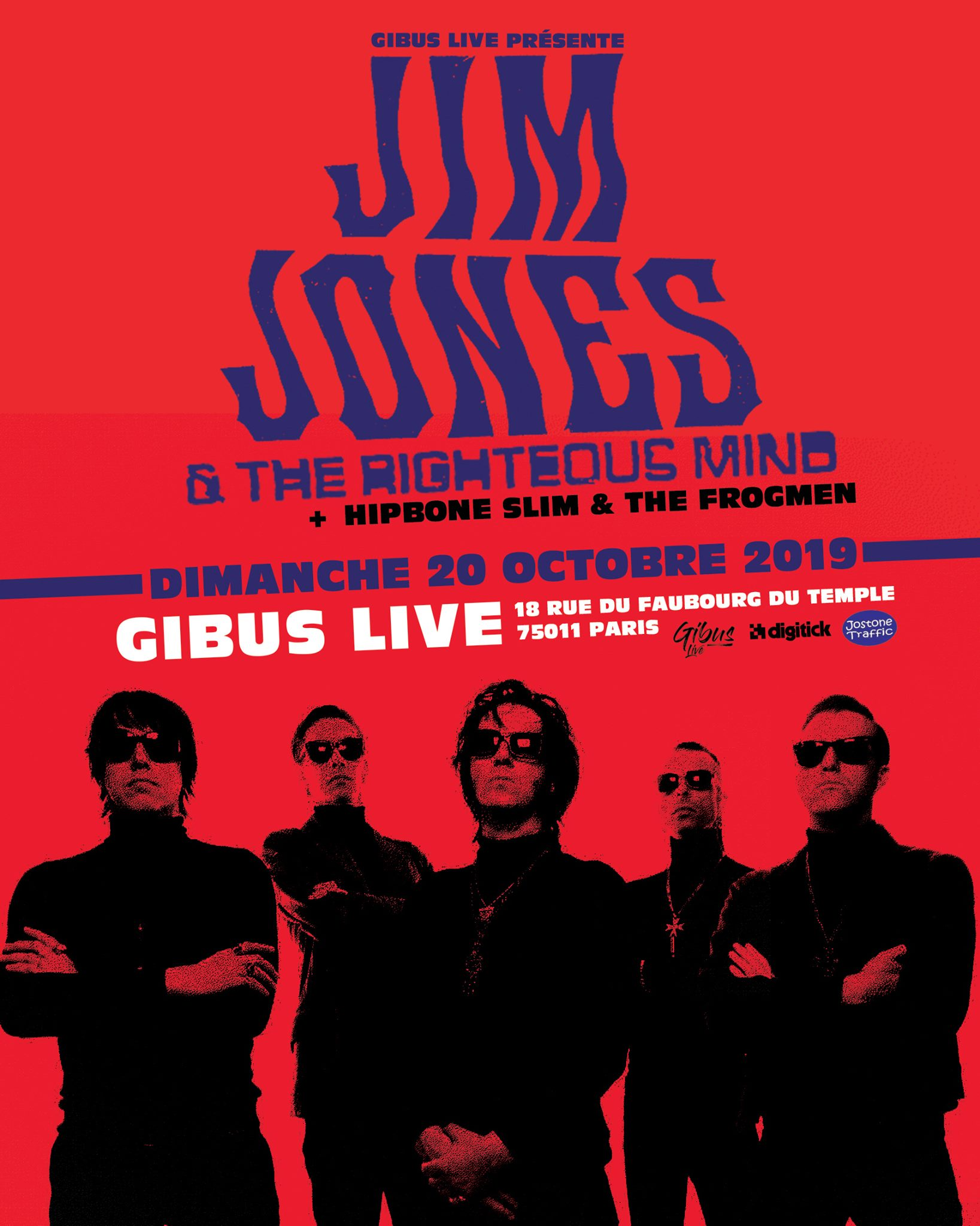 20.10.2019 – Jim Jones & The Righteous Mind + Hipbone Slim & The Frogmen