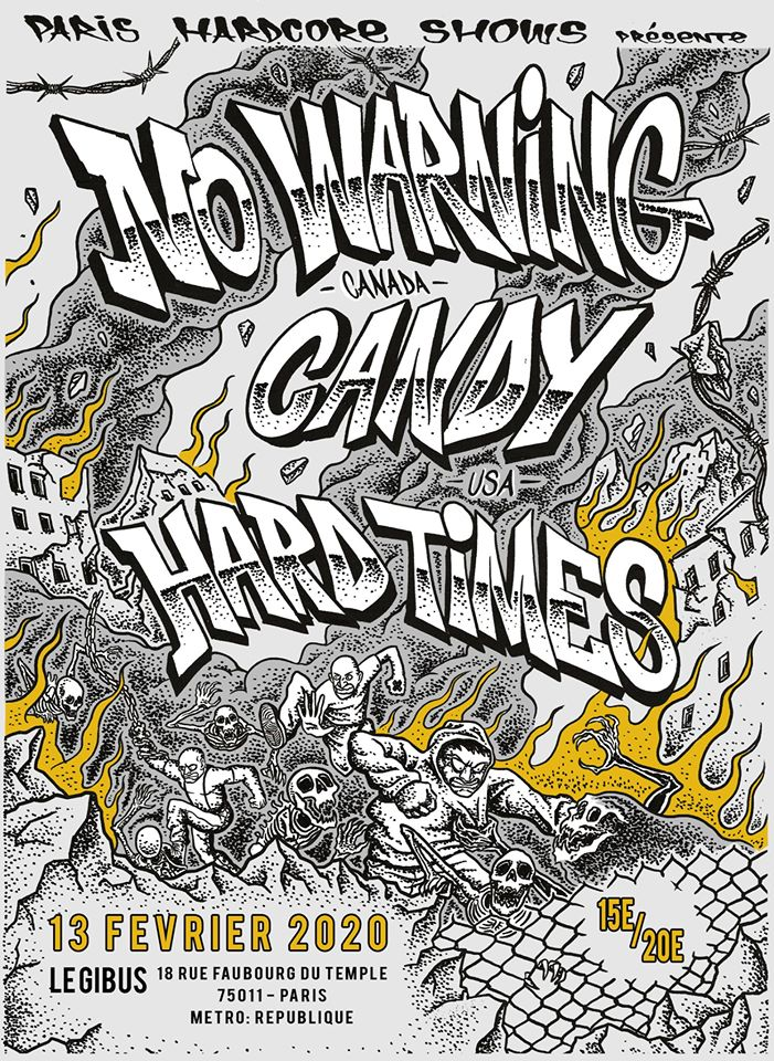 13.02.2020 – No Warning •• Candy •• Hard Times •• Jaw Crack